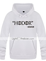 cheap -Hodor Ugly Christmas Sweater / Sweatshirt Male Festival / Holiday Halloween Costumes Yellow Red Black Letter