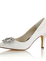 economico -Da donna Scarpe Raso elasticizzato Primavera Autunno Decolleté scarpe da sposa A stiletto Appuntite Cristalli per Formale Serata e festa