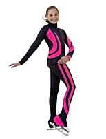 abordables -Collants de Patinage Artistique Femme Fille Patinage Pantalon / Surpantalon Survêtement Hauts/Top Fuchsia Bleu Violet non élastique