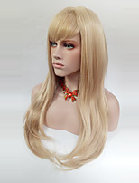 cheap -Women Synthetic Wig Long Straight Blonde With Bangs Natural Wigs Costume Wig