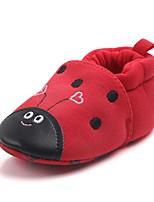 Недорогие -Дети обувь Ткань Весна Осень Удобная обувь Обувь для малышей Пинетки На плокой подошве На эластичной ленте для Повседневные Красный