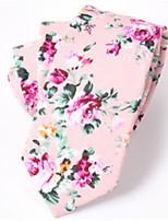 cheap -Men's Cotton Necktie,Casual Print All Seasons Blushing Pink White Blue