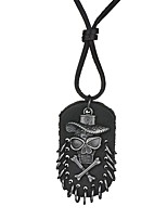cheap -Men's Skull Vintage Basic Pendant Necklace , Leather Alloy Pendant Necklace , Daily Formal
