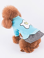 cheap -Dog Dress Dog Clothes Casual/Daily Plaid/Check Pink Blue Red Costume For Pets