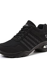 """economico -Da donna Sneakers da danza moderna Maglia traspirante Sneaker All'aperto Basso Nero Nero/Rosso 2 """"- 2 3/4"""" Personalizzabile"""