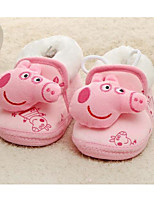 cheap -Baby Shoes Fabric Winter Fall First Walkers Comfort Flats Walking Shoes for Casual Yellow Blue Pink