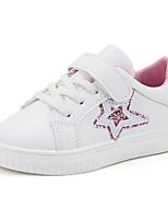 Недорогие -Девочки обувь Полиуретан Зима Осень Удобная обувь Кеды Для прогулок На липучках для Повседневные Зеленый Розовый