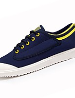 cheap -Men's Shoes PU Canvas Spring Fall Comfort Sneakers for Casual Dark Blue Black White