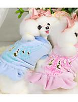 Cane Gilè Abbigliamento per cani Casual Con stampe Blu Rosa Costume Per animali domestici