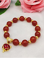 cheap -Women's Strand Bracelet Onyx Agate Gold Plated Jewelry For Wedding Daily