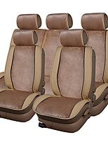 abordables -Fundas para asiento Kits de cojines para el reposacabezas y cintura Cubre asientos Cojines de asiento Piel Para Universal Todos los Años