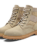 cheap -Men's Shoes Nubuck leather Spring Fall Comfort Combat Boots Boots Booties/Ankle Boots for Casual Camel Black