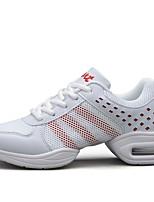 """economico -Da donna Sneakers da danza moderna Tulle Finta pelle Sneaker All'aperto A fantasia Piatto Bianco 1 """"- 1 3/4"""" Personalizzabile"""