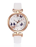 Women's Casual Watch Wrist watch Unique Creative Watch Chinese Quartz Casual Watch PU Band Luxury Butterfly Elegant Black White Brown