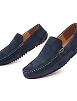 preiswerte -Herren Schuhe Echtes Leder Schweineleder Frühling Herbst Komfort Loafers & Slip-Ons für Normal Braun Blau Khaki