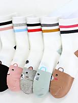 preiswerte -Damen Socken Baumwolle Polyester Regenbogen Medium,5 Regenbogen