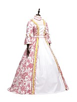 preiswerte -Rokoko Viktorianisch Erwachsene Einteilig Kleid Party Kostüme Maskerade Cosplay Rot Langarm