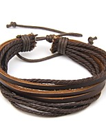 cheap -Men's Wrap Bracelet , Simple Casual Leather Circle Jewelry Daily