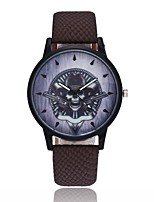 cheap -Men's Women's Casual Watch Unique Creative Watch Chinese Quartz Skull PU Band Vintage Cool Halloween Black Blue Brown