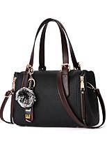 cheap -Women Bags PU Shoulder Bag Zipper for Casual Office & Career All Season Yellow Gray Blushing Pink Red Black