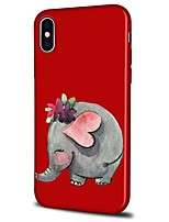 abordables -Coque Pour Apple iPhone X / iPhone 8 Plus Motif Coque Bande dessinée / Eléphant Flexible TPU pour iPhone X / iPhone 8 Plus / iPhone 8