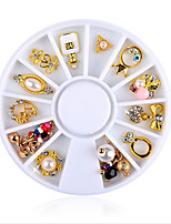 cheap -12PCS Fashion Alloy Jewel Nail Art Decoration