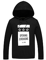 cheap -Men's Plus Size Going out Casual/Daily Street chic Hoodie Solid Letter Hooded Without Lining Micro-elastic Polyester Long Sleeves Winter