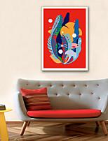 Недорогие -ботанический Пейзаж Иллюстрации Предметы искусства,ПВХ материал с рамкой For Украшение дома Предметы искусства в рамках Гостиная Кухня