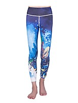 economico -Da donna Pantaloni corsari da corsa Fitness, Running & Yoga Pantalone/Sovrapantaloni Yoga Corsa Pilates Rayon Poliestere Aderente Bianco