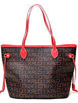 cheap -Women Bags PU Shoulder Bag Pattern / Print for Casual Office & Career All Season Red Beige Coffee