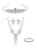 cheap -Women's Tiaras Bridal Jewelry Sets Rhinestone Fashion European Wedding Party Imitation Diamond Alloy Butterfly Body Jewelry 1 Necklace