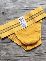 Men's Micro-elastic Solid Briefs Underwear Medium,Polyester Spandex 1pc Yellow