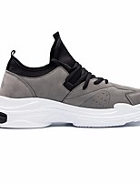 cheap -Men's Shoes Flocking Spring Fall Comfort Sneakers for Casual Gray Black