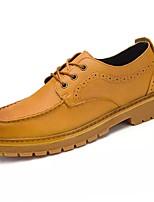 preiswerte -Herren Schuhe Künstliche Mikrofaser Polyurethan Frühling Herbst Komfort Sneakers für Work & Safety Schwarz Hellbraun Dunkelbraun