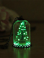 Women's Christmas tree Fashion Illuminated Luminous Pendant Necklace , Alloy Pendant Necklace , Christmas