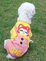 cheap -Dog Jumpsuit Dog Clothes Casual/Daily Cartoon Yellow Costume For Pets