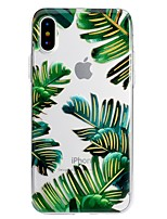 baratos -Capinha Para Apple iPhone X / iPhone 8 Plus Estampada Capa traseira Flor Macia TPU para iPhone X / iPhone 8 Plus / iPhone 8