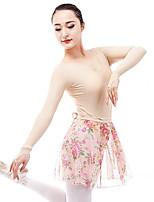 cheap -Ballet Leotards Women's Performance Spandex Gore Long Sleeve Natural Leotard