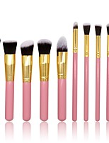 cheap -10 pcs Makeup Brush Set Blush Brush Eyeshadow Brush Lip Brush Powder Brush Foundation Brush Nylon Synthetic Hair Others Professional Soft