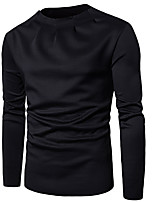 cheap -Men's Casual/Daily Sweatshirt Solid Round Neck Micro-elastic Cotton Long Sleeve Winter Spring/Fall
