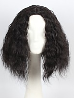 Black Color Wavy Hair Synthetic Cosplay Wig for Women Party Wig