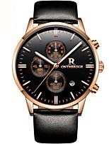 Недорогие -Муж. Спортивные часы Модные часы Нарядные часы Японский Кварцевый Натуральная кожа Черный / Синий / Коричневый 30 m Защита от влаги Календарь Секундомер Аналоговый Роскошь На каждый день -