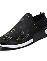 cheap -Men's Shoes PU Spring Fall Comfort Loafers & Slip-Ons for Casual Black/Blue Black/Green Black/White