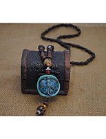 cheap -Men's Women's Vintage Fashion European Pendant Necklace , Wooden Alloy Pendant Necklace , Vintage Fashion European Gift Daily