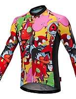 cheap -Cycling Jersey with Bib Tights Unisex Long Sleeves Bike Compression Clothing Jersey Bike Wear Reflective Strip Fast Dry Quick Dry