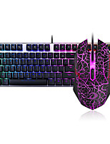 abordables -dareu con cable teclado mecánico ratón azul cambia siete teclas 6000dpi