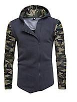 preiswerte -Herren Pullover Lässig/Alltäglich Einfach Druck Rundhalsausschnitt Mikro-elastisch Baumwolle Langärmelige Winter Frühling/Herbst