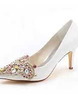 preiswerte -Damen Schuhe Stretch - Satin Frühling Herbst Pumps Hochzeit Schuhe Stöckelabsatz Spitze Zehe Kristall für Kleid Party & Festivität