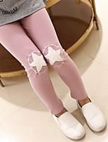 cheap -Girls' Solid Pants,Cotton Fall All Seasons Black Blushing Pink Yellow