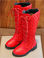 cheap -Girls' Shoes PU Winter Fall Comfort Fashion Boots Boots for Casual Red Black